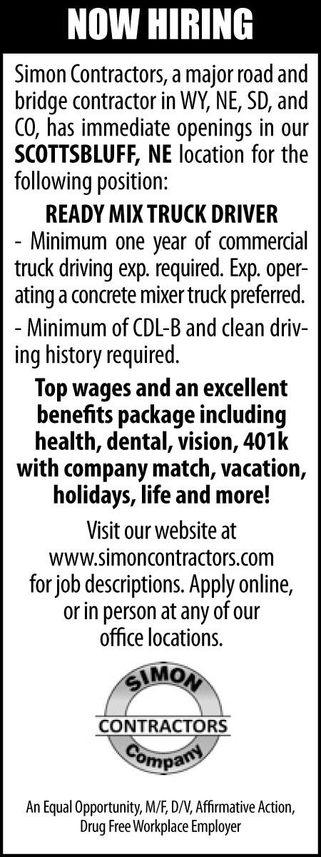 Nebraska Ready Mixed Concrete : Ready mix truck driver nebraska hires