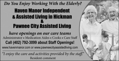 Haven Manor Regional Help Wanted Ad - Dec